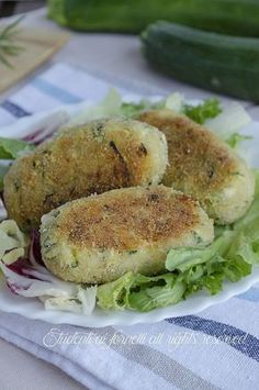 #crocchette di #zucchine #tonno e #patate con mozzarella ricetta polpette in padella non fritte
