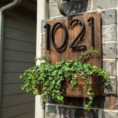 House Number Planter Box Address Planter Box address number | Etsy Rustic Planters, Wood Planter Box, Outdoor Planters, Hanging Planters, Outdoor Decor, Mailbox Planter, Brick Planter, Outdoor Couch, Window Planter Boxes