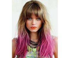 With trendy ombre hair you can forget the high maintenance highlights and touch-ups. The whole idea of ombre hair is to enhance your skin tone. Creative Hairstyles, Boho Hairstyles, Festival Hairstyles, Fashion Hairstyles, Lavender Hair Colors, Dipped Hair, Pink Ombre Hair, Brown Hair Pink Ends, Creative Hair Color