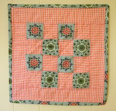 Fussy folky doll quilt by Hillary Lang, via Flickr