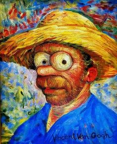 Simpsons Portrait by Vincent Van Gogh!