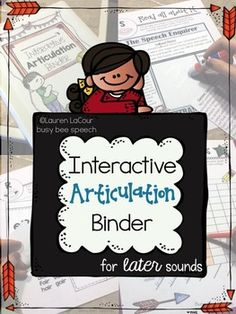 This articulation binder provides an organized and comprehensive way to treat articulation disorders targeting /r, s, z, l/ plus generic worksheets.