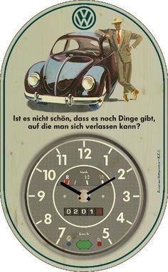 Vintage Wanduhr VW Käfer
