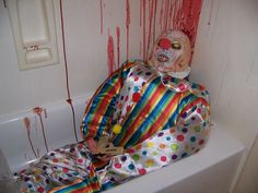 """unfortunate clown suicide at my """"Circus of the Dead"""" themed Halloween Party"""