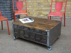 Wide Drawer Coffee Table 1
