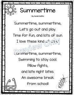 Printable Summer Poem