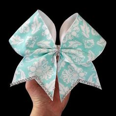 Teal Elegance Cheer Bow on Etsy, $12.00