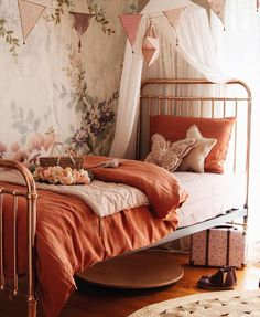 [New] The 10 Best Home Decor Ideas Today (with Pictures) - Beautiful bronze bedroom interiors by featuring wallpaper for the dreamiest bedroom. Interior Styling, Interior Decorating, Interior Design, Bronze Bedroom, Girls Bedroom Wallpaper, Buy Wallpaper Online, Home Goods, Sweet Home, Wall Decor