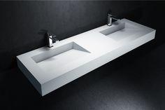Plan double vasque en DuPont™ Corian® Tennessee - À partir de 1240€ (150€ de remise jusqu'au 30 juin 2015)