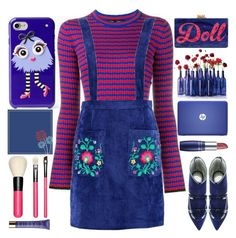 """""""Pinafore Dress"""" by grozdana-v ❤ liked on Polyvore featuring Kate Spade, Proenza Schouler, Boohoo, Rayne, Edie Parker, MAC Cosmetics, Guerlain and thebestpolyvorians"""