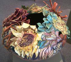 paradis express: Whitney Peckman's gourd sculpture