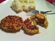 Tilapia cakes (just like crab cakes, only easier and less messy - in my opinion)