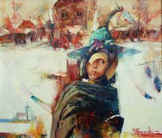 "Waclaw Sporski ""Sunday"" 60x80 Oil On Canvas sporskiart.com"