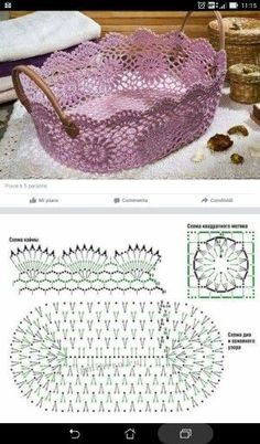 How to Crochet a Solid Granny Square Crochet Borders, Crochet Motif, Crochet Designs, Crochet Doilies, Crochet Flowers, Crochet Lace, Crochet Patterns, Crochet Round, Crochet Bowl