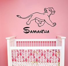 Nala Custom Name Decal Vinyl Sticker Lion King Wall Art Housewares Disney Decorations for Home Kids Childrens Girls Room Nursery Bedroom Personalized Decor ling16 ** See this great product.  This link participates in Amazon Service LLC Associates Program, a program designed to let participant earn advertising fees by advertising and linking to Amazon.com.