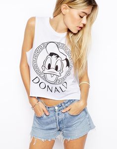 asos-white-cropped-t-shirt-with-donald-duck-frame-print-t-shirts-product-1-19717941-2-402013902-normal.jpeg (870×1110)
