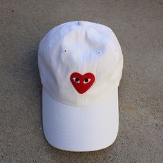Comme Des Garçons White Baseball Cap Brand new | Easy adjustable buckle Listed as brand for visibility | Brandy Melville Accessories Hats