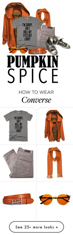 """""""What Was I Thinkin'?"""" by aggietheskeleton on Polyvore featuring Burberry, Salvatore Ferragamo, Nobody Denim, Converse and Tod's"""