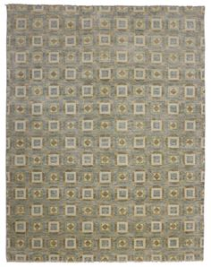 New Transitional Rug with Modern Geometric Design   From a unique collection of antique and modern indian rugs at https://www.1stdibs.com/furniture/rugs-carpets/indian-rugs/