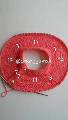 Baby Knitting Patterns Sweaters Interesting tip for baby tricot. Baby Knitting Patterns, Baby Clothes Patterns, Knitting For Kids, Knitting Stitches, Hand Knitting, Cowl Patterns, Diy Crafts Knitting, Diy Crafts Crochet, Crochet Patron