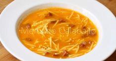 Mercado Calabajío es un blog de cocina con recetas paso a paso en el que también hablamos sobre productos, restaurantes y gastronomía en general. Spanish Food, Spanish Recipes, Hot Soup, Sweet And Salty, Thai Red Curry, Cantaloupe, Food Porn, Food And Drink, Pasta