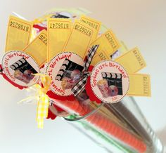 Movie Night party favors (30) for kids birthday party, housewarming, girls night in. $54.00, via Etsy.