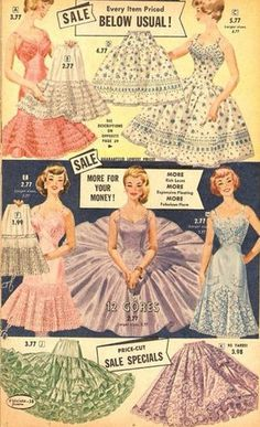 Good prices on can-can petticoats!