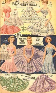 1950s dress ad