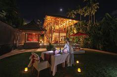 Romantic dinner at Puri Kamadewa, Anapuri Villas