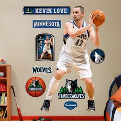 Fathead Kevin Love Minnesota Timberwolves - Wall Sticker Outlet