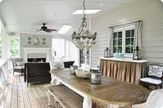 outdoor dining plus lots of porch inspiration!!