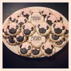 Mini Mouse birthday cookie order