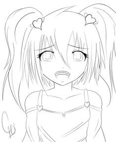 cool Anime Girl Hd Drawing Coloring Page Mcoloring Pinterest