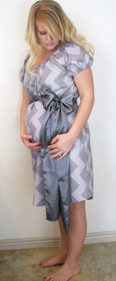 Peyton  Chic Maternity Hospital GownDress by CHICMOMBOUTIQUE. , via Etsy.