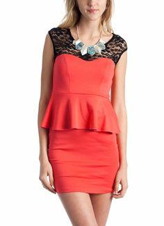 lace peplum dress  $27.60