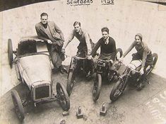 Scarboro wall of death riding crew 1932.  My uncle Raymond did this.