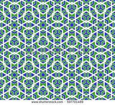 Arabesque seamless geometry polygonal pattern.