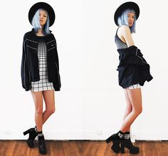 Gigi M. - Style Moi Ombre Grid Dress - Matrix