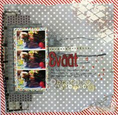 a Guest Designer layout for CSI by Linda Iswariah Button Crafts, Layout, Scrapbook, Frame, Books, Photography, Inspiration, Design, Home Decor