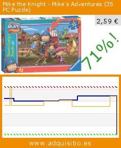 Mike the Knight - Mike's Adventures (35 PC Puzzle) (Juguete). Baja 71%! Precio actual 2,59 €, el precio anterior fue de 8,80 €. http://www.adquisitio.es/ravensburger/mike-caballero-juguete