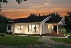 Hillitty ja harkittu – Olavi: 129 m², 3 makuuhuonetta, 1-kerroksinen omakotitalo