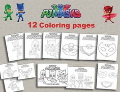 Instand DL 12 PJ Masks Printable coloring pages by foxisgone