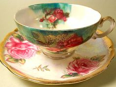 Very unusual pretty cup and saucer
