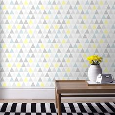 Superfresco Easy Yellow/Blue/Grey/White Strippable Non-Woven Paper Unpasted Textured Wallpaper