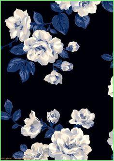 Ideas Flowers Wallpaper Iphone Cath Kidston For 2019 Hd Flower Wallpaper, Blue Floral Wallpaper, Iphone Background Wallpaper, Flower Backgrounds, Aesthetic Iphone Wallpaper, Pattern Wallpaper, Cath Kidston Wallpaper, Dark Blue Flowers, Apple Watch Wallpaper