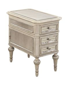 Bassett Mirror Company Reflections Chairside Chest, Antique Cream at MYHABIT