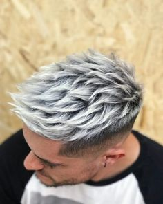 Hair color options for men hair color highlights and ideas for men 30 y blonde hairstyles for men in the 25 best haircuts for men. Mens Hair Colour, Hot Hair Colors, Cool Hair Color, Silver Hair Men, Silver Blonde, Platinum Hair Color, Mens Platinum Hair, Dyed Hair Men, Men Blonde Hair