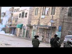 Israeli forces tear gas and stun grenade Hebron children