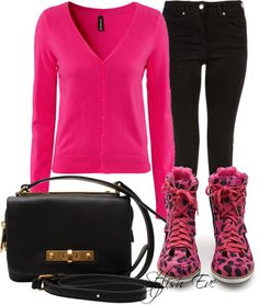"""PINK & Leopard Outfit !"" by stylisheve ❤ liked on Polyvore"