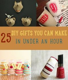 25 DIY Gifts You Can Make in Under an Hour | Homemade Christmas Gift Ideas